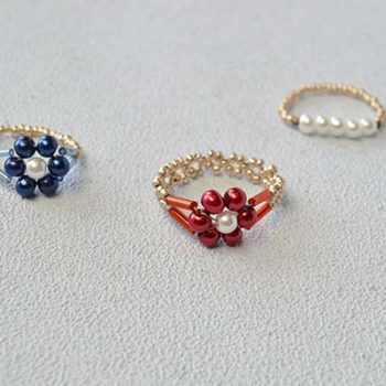 Beaded Flower Rings