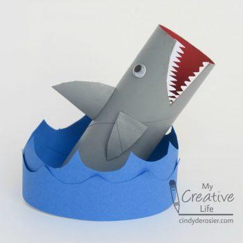 Cardboard Tube Shark