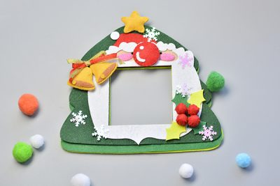 get the instructions for felt christmas frame