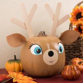 Paint a pumpkin to look like a deer!