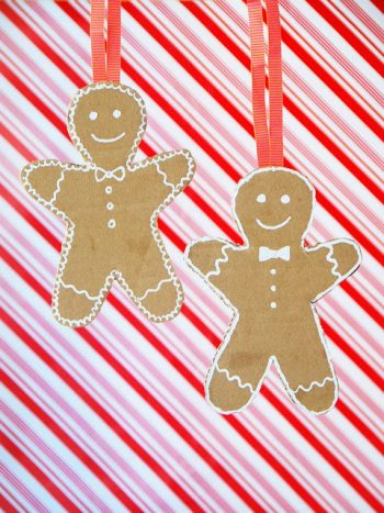 Get in the holiday spirit with these gingerbread ornaments.