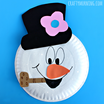 Watch the movie, then make a paper plate version of Frosty the Snowman!
