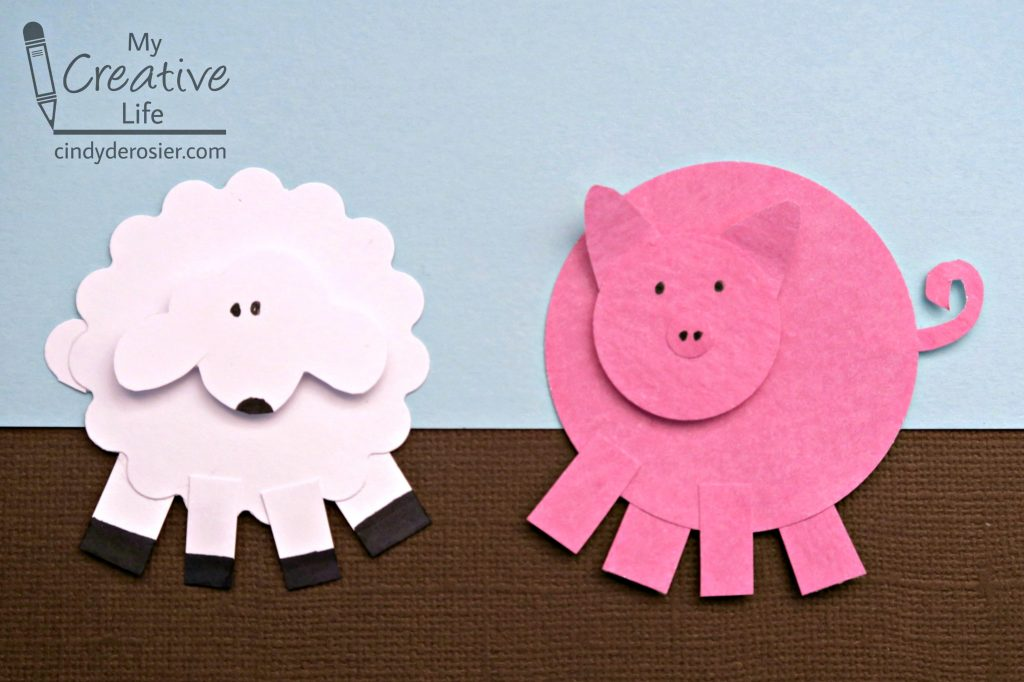 Get the instructions for \u2013\u2013\u003e Paper Punch Sheep and Pig & Paper Punch Sheep and Pig | Fun Family Crafts