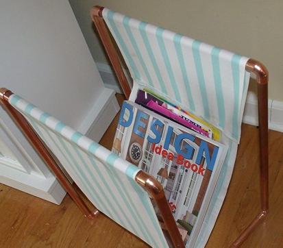 Copper Pipe Magazine Holder