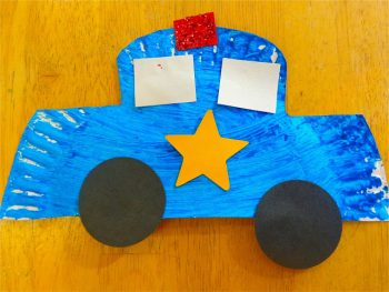 Make a police car during a study of community helpers!