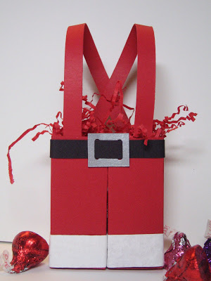 Fill these Santa Pants with candy canes or other holiday treats!