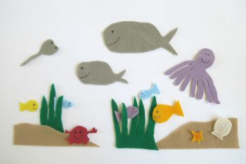 Make an ocean of felt animals for creative play.