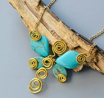 Wire-Wrapped Butterfly Pendant