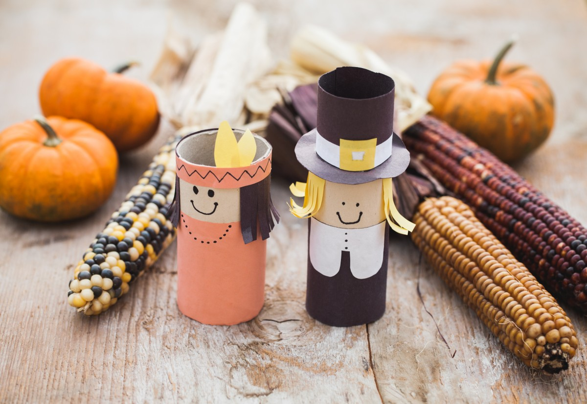 Thanksgiving cardboard tube characters fun family crafts