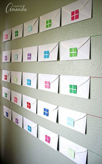 This easy Envelope Advent Calendar is a great way to get yourself in the Christmas spirit!
