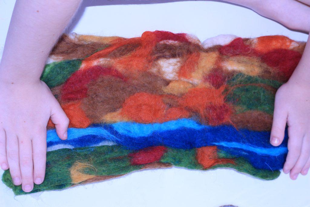 Make a beautiful, durable, no sew wool play mat!