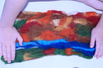 Make a beautiful, durable, no sew wool play mat!