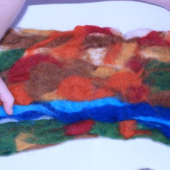 Wet Felted Wool Play Mat
