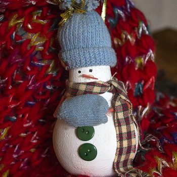 Light Bulb Snowman Ornament