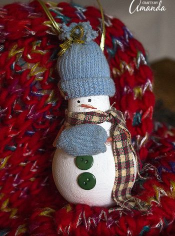 Light Bulb Snowman Ornament