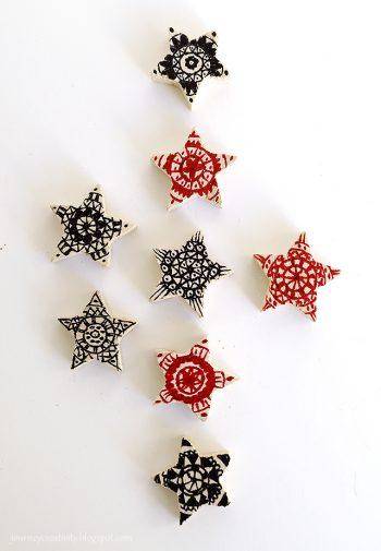 Mandala christmas stars