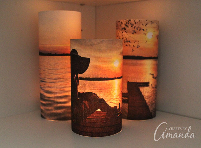 These super cute Photo Luminaries are so easy to make and such a great gift!
