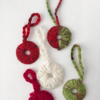 Finger Crochet Washer Ornaments