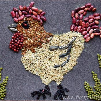 Rooster Seed Mosaic