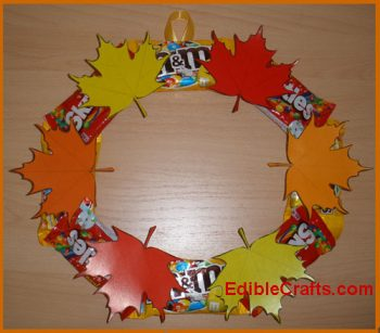 Colorful DIY Fall Wreath With Candy