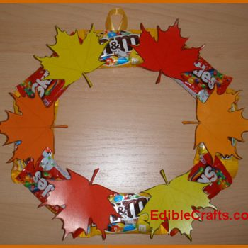 Candy and Leaf Fall Wreath