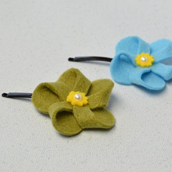 Felt Flower Hair Accessories