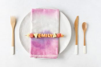 Prepare them ahead of time or have guests make their own place cards!