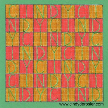 Graph Paper Grid Name Art