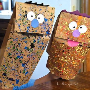 Paint Splatter Monster Puppets