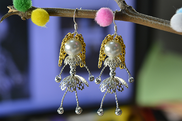 Wire wrapped pearl doll earrings fun family crafts for Pearl arts and crafts closing