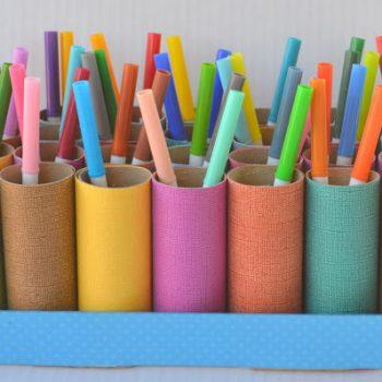 Recycled Pen Organizer