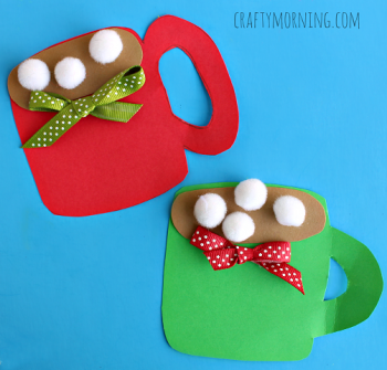 Enjoy a mug of cocoa while you make this cocoa craft!