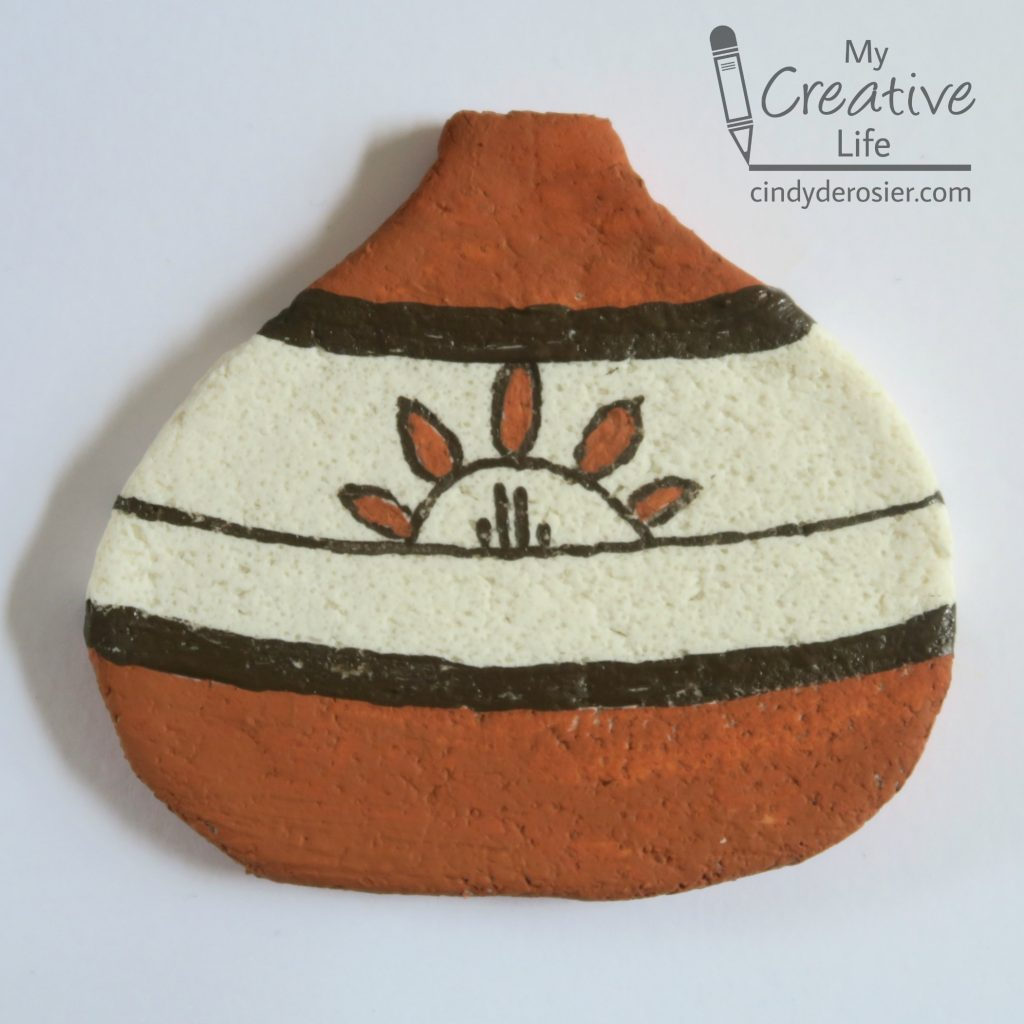 Use salt dough to create 2-D versions of the amazing pottery of the Pueblo people.