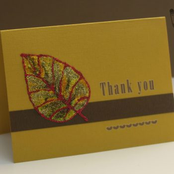 Coloring Book Glitter Glue Thank You Card