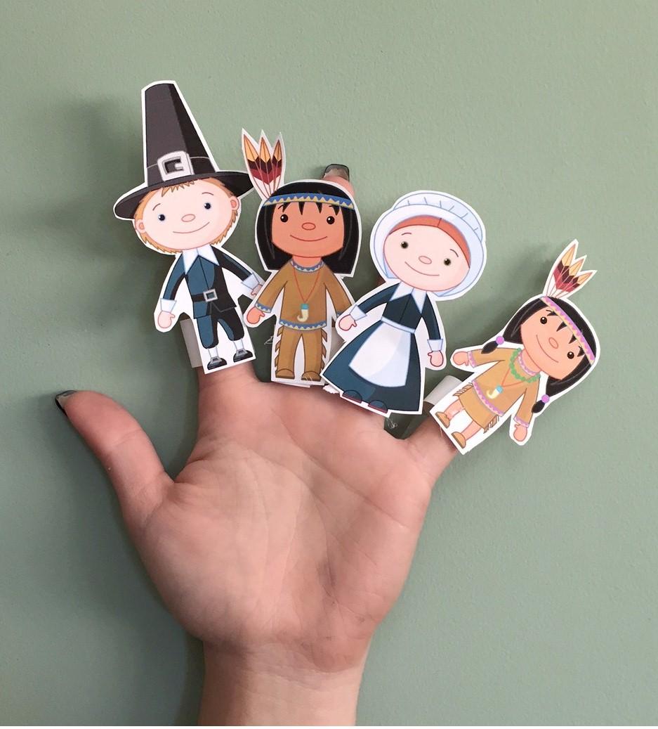 Thanksgiving Finger Puppets