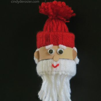 Yarn Santa Ornament