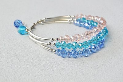 3 strand beaded bracelet