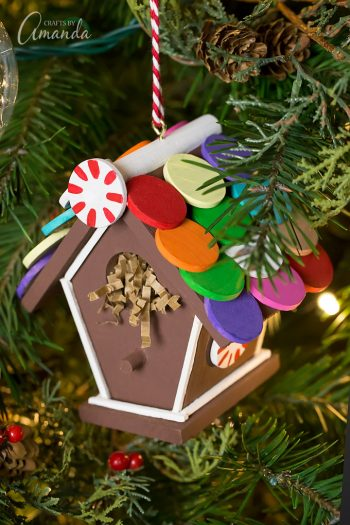 Don't just make gingerbread houses this holiday season - make Gingerbread Birdhouse Ornaments!