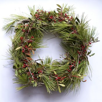 Nature christmas wreath