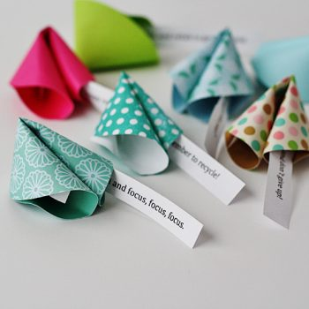 New Year's Paper Fortune Cookies