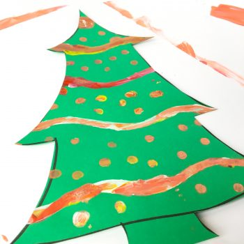 Stenciled Paper Christmas Tree
