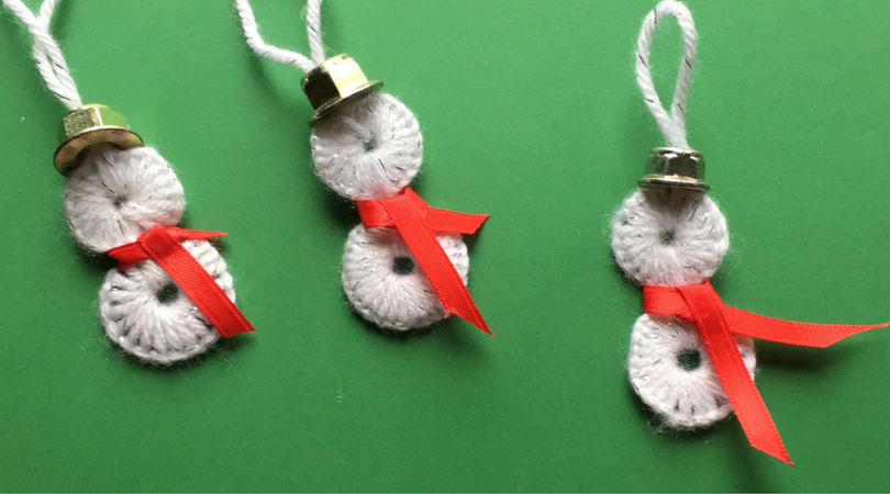 These Washer Snowman ornaments are the perfect snowman decoration to add to your tree! These homemade ornaments make great gifts or are the perfect diy to create for your own tree.