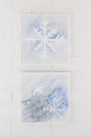 Watercolor snowflake art, perfect for winter
