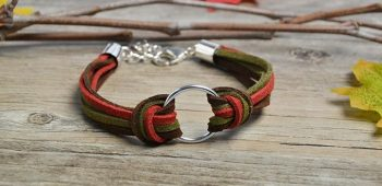 Pandahall Easy Project- How to Make Simple Suede Cord Bracelet within Two Steps
