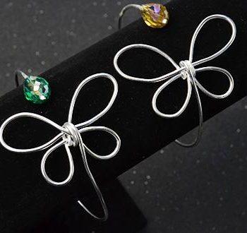 Silver Butterfly Bangle Bracelet