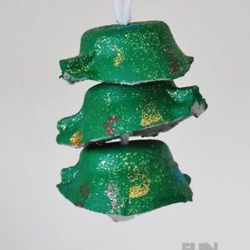 Egg Cup Christmas Tree Ornament