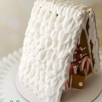 Ruffled Royal Icing Gingerbread House Roof