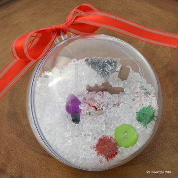 Kids love shaking their I Spy Ornaments and finding all the treasures hidden in their ornament.