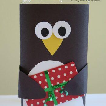 Microwave Popcorn Penguin Gift Card Holder