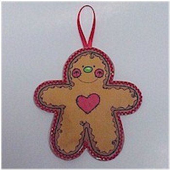 Puffy Gingerbread Ornament